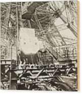 Eiffel Tower Lift Machinery, 1889 Wood Print by Science Photo Library