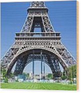 Eiffel Tower Lower Part Paris Wood Print