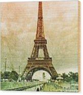 Eiffel Tower Mood Wood Print