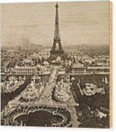 Eiffel Tower, Paris, 1900 Wood Print