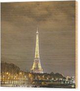 Eiffel Tower - Paris France - 011339 Wood Print by DC Photographer