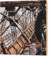 Eiffel Tower Paris France Close Up Wood Print
