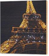 Eiffel Tower Paris France Illuminated Wood Print by Patricia Awapara