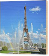 Eiffel Tower - Paris, France Wood Print