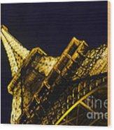 Eiffel Tower Paris France Side Wood Print