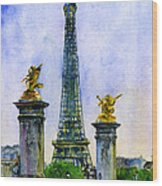 Eiffel Tower Paris Wood Print