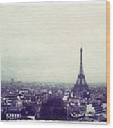 Eiffel Tower Paris Polaroid Transfer Wood Print by Jane Linders
