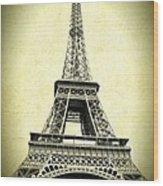 Mighty Eiffel Tower Wood Print