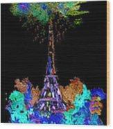 Eiffel Tower Topiary Wood Print