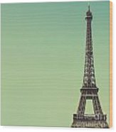 Eiffel Toweragainst Blue Sky Wood Print