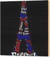 Eiffiel Tower Wood Print