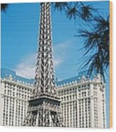 Eiffl Tower Vegas Wood Print