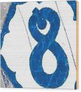 Eight Blue Tile Wood Print
