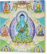 Eight Brothers Of The Medicine Buddha Wood Print