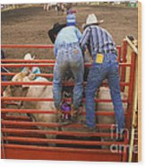 Rodeo Eight Seconds To Payday Wood Print