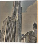 Eight Spruce Street By Gehry Wood Print