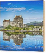 Eilean Donan Castle Reflections 2 Wood Print