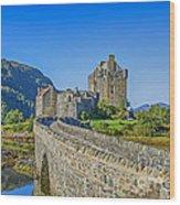 Eilean Donan Castle Walkway Wood Print