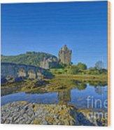Eilean Donan Reflections Wood Print