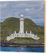 Eilean Musdile Lighthouse Wood Print