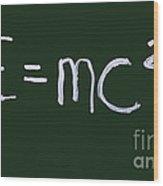 Einstein Formula Wood Print