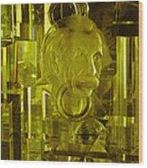 Einstein In Crystal - Yellow Wood Print