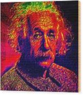 Einstein - Pop Art Wood Print