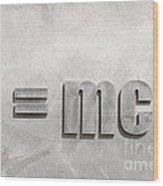 Einstein Sculpture Emc2 Canberra Australia Wood Print