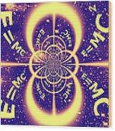 Einstein's Universe 3 Wood Print