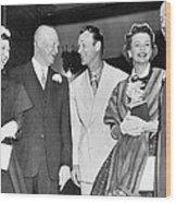 Eisenhowers At Easter Wood Print