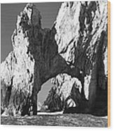 El Arco In Black And White Wood Print