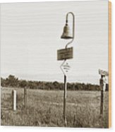 El Camino Real Mission Bell Near San Fernando Mission California 1906 Wood Print