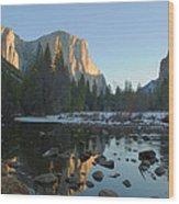 El Capitan Morning Sun Wood Print