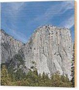 El Capitan And The Wall Of Granite Wood Print