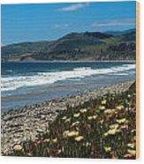 El Capitan Beach Wood Print by Kathy Yates