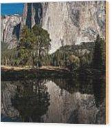El Capitan In Yosemite 2 Wood Print
