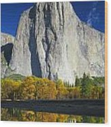 2m6516-el Capitan Reflect Wood Print