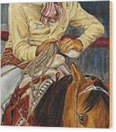 El Esperar Del Charro Wood Print