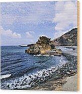 El Golfo Beach On Lanzarote Wood Print