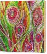 El Jardin De Laura - Laura's Garden  Wood Print