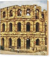 El Jem Colosseum Wood Print