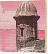 El Morro In The Pink Wood Print