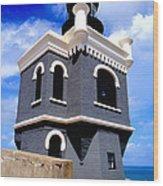 El Morro Lighthouse Wood Print