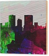 El Paseo City Skyline Wood Print