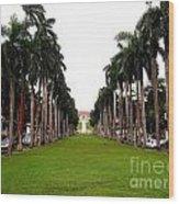 El Prado Sidewalk Wood Print