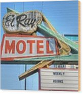 El Ray Motel Wood Print