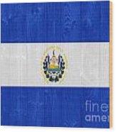 El Salvador Flag Wood Print