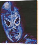 El Santo The Masked Wrestler 20130218m168 Wood Print