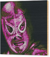 El Santo The Masked Wrestler 20130218m68 Wood Print by Wingsdomain Art and Photography