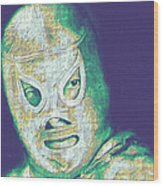El Santo The Masked Wrestler 20130218v2 Wood Print by Wingsdomain Art and Photography